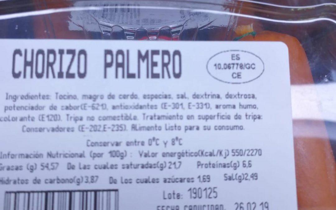 Atención: no todo el chorizo palmero es «Hecho en La Palma»