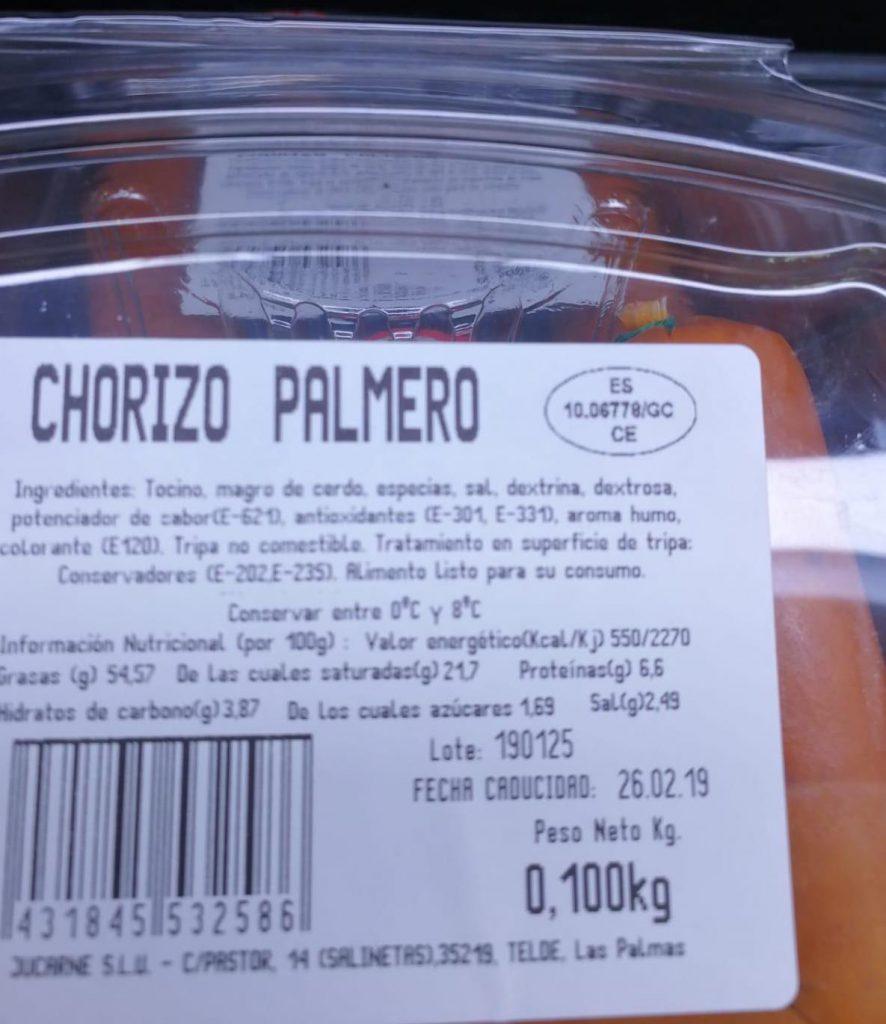 chorizo palmero - agap